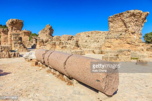 the baths of antoninus at the ancient ruins of carthage - archeologia foto e immagini stock