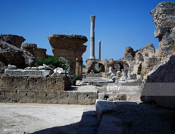 The Baths of Antoninus at the ruins of the ancient city of Carthage Tunisia Roman Civilisation 2nd century