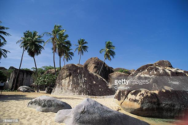 the baths , virgin gorda , british virgin islands - islas de virgin gorda fotografías e imágenes de stock