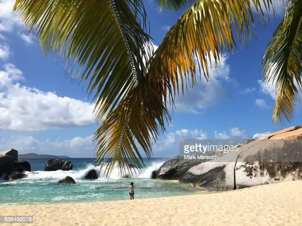 the baths, virgin gorda, british virgin islands - islas de virgin gorda fotografías e imágenes de stock