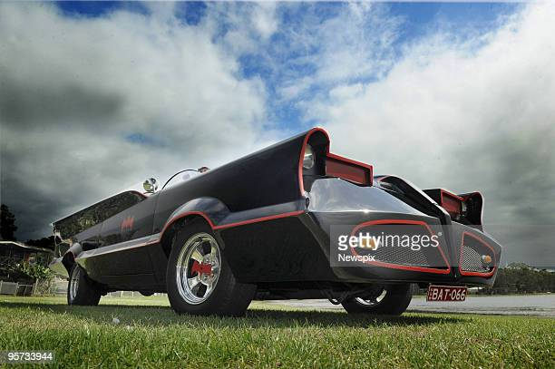 The 'Batmobile' car built by Mark Kemp of Buff Point is displayed on January 11 2009 on the Central Coast of NSW Australia