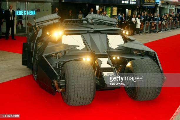 The Batmobile during 'Batman Begins' London Premiere Arrivals at Odeon Leicester Square in London Great Britain