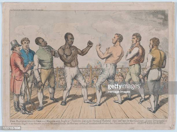 The Battle Between Cribb and Molineaux, September 28 October 3, 1811. Cribb's second was John Gully and his bottle-holder Joe Ward. Molineaux's...