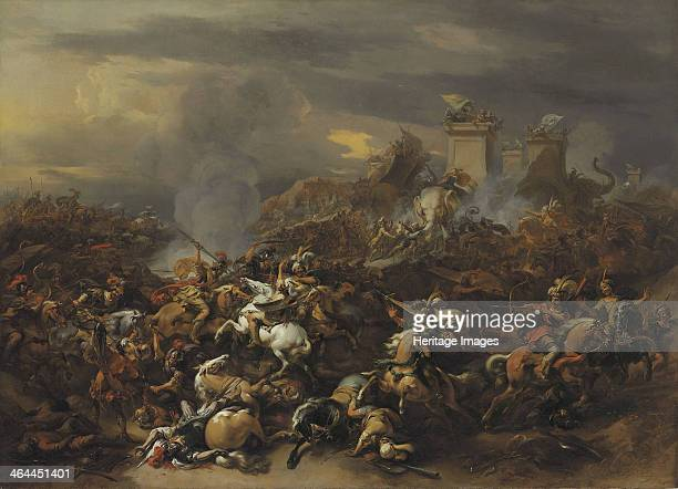 The Battle by Alexander the Great against the king Porus From a private collection