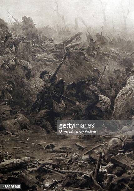 The battle for the town of Eparges April 1914 after the initial advance into France had been halted the Germans once again went on the offensive...