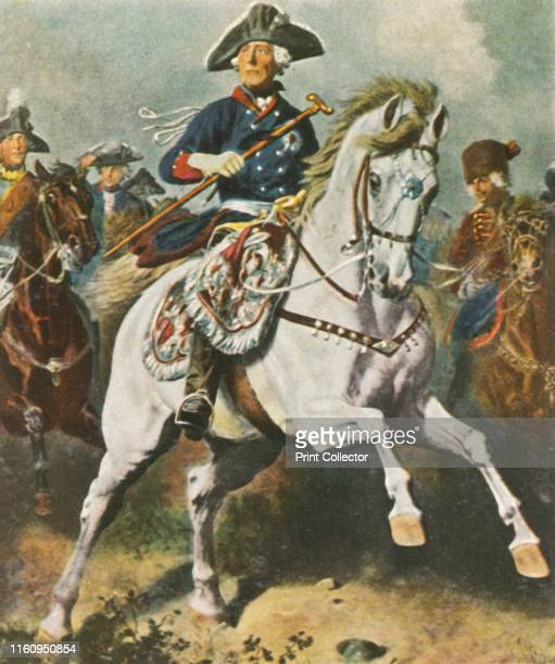 The Battle King 'Der Schlactenkönig 17121786' Frederick the Great King of Prussia on horseback Frederick led his army in numerous battles during the...