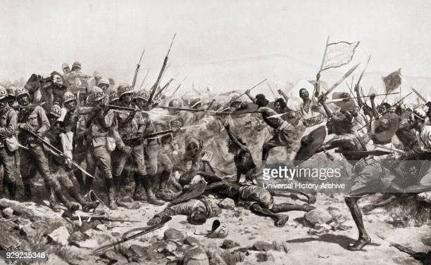 The Battle of Abu Klea aka Battle of Abu Tulayh 1618 January 1885 Abu Klea Sudan After the painting by William Barnes Wollen From Hutchinson's...