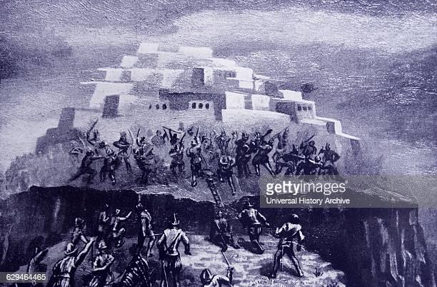 The Battle of Acoma Pueblo or the Acoma Massacre was fought in January 1599 between Spanish conquistadors and Acoma native Americans in what is now...