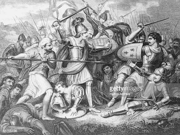 The Battle of Agincourt fought on Saint Crispin's Day in northern France during the Hundred Years' War between England and France 25th October 1415...