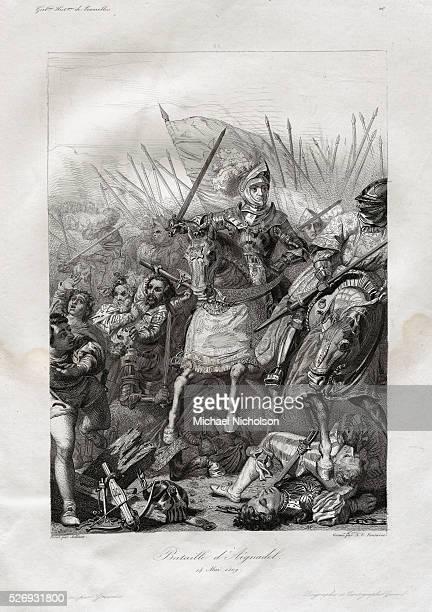 The Battle of Agnadello Engraving by AV Fontaine after Pierre Jules Jollivet