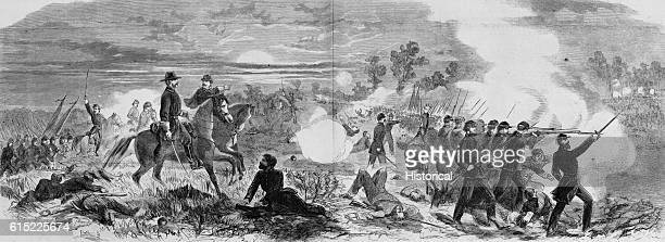 The Battle of Antietam Fought September 17 1862 Magazine Illustration Published in Harper's Weekly