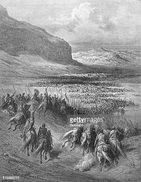 The Battle of Antioch City on the Orontes River near the Mediterranean Sea It fell to the Arabs in 647 AD but was retaken by the Crusaders in 1098...
