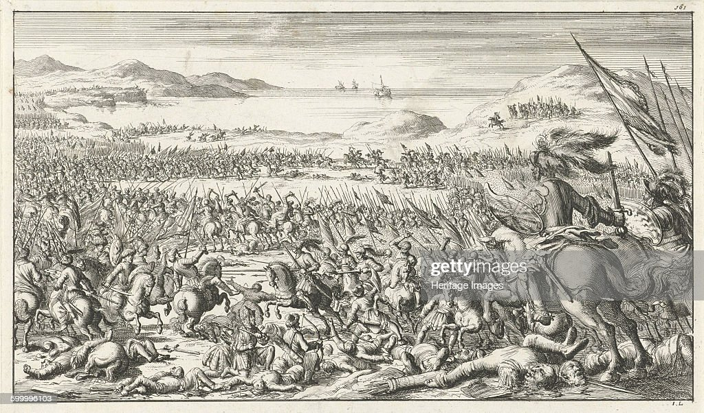 The Battle of Ascalon on August 12, 1099, 1683 : News Photo