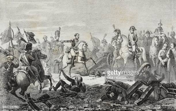 The Battle of Austerlitz, December 2 Slavkov u Brna, Czech Republic, lithograph by Giovanni Mariani after a painting by Baron Francois Gerard , from...