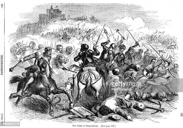 The Battle of Bannockburn 24th June 1314 A print from Cassell's Illustrated History of England