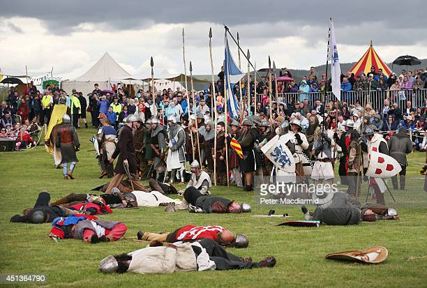 The Battle of Bannockburn is reenacted on June 28 2014 in Stirling Scotland The 700th anniversary of the historic battle that saw the outnumbered...