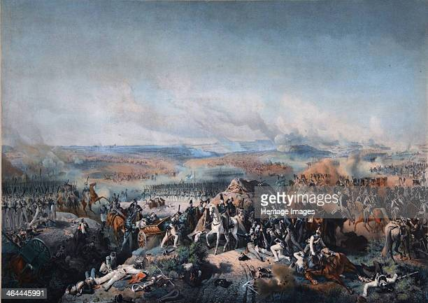The Battle of Borodino on August 26 First quarter of 19th cen.. Found in the collection of the State Borodino War and History Museum, Moscow.