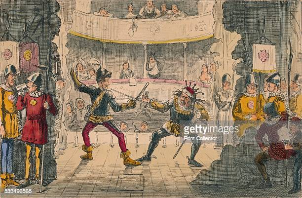 The Battle of Bosworth Field a scene in the Great Drama of History 1850 A backstage view of a scene from William Shakespeare's Richard III A...