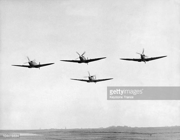 The Battle Of Britain In 1940 Spitfire In Flight