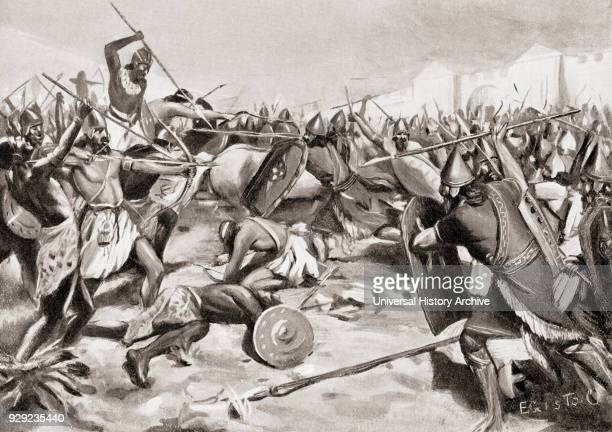The Battle of Carchemish c 605 BC between the allied armies of Egypt and Assyria against the armies of Babylonia the Medes Persians and Scythians...