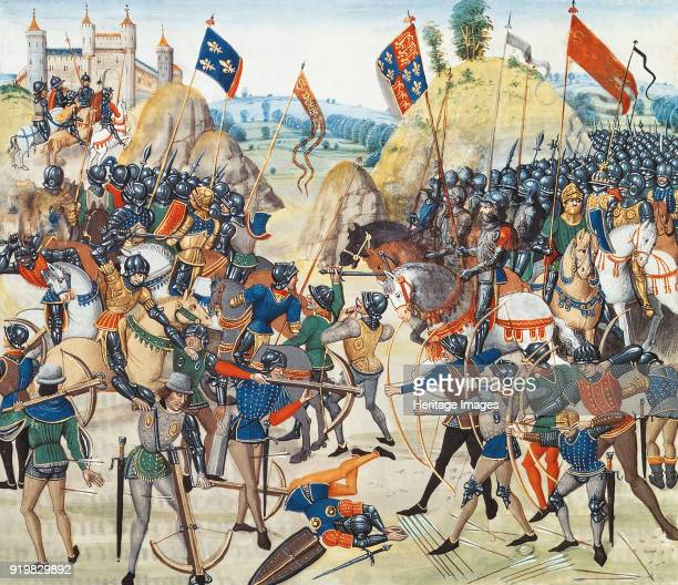 The Battle of Crécy on 26 August 1346 ca 1470 Found in the collection of Bibliothèque Nationale de France