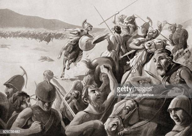 The Battle of Cynoscephalae Thessaly Greece 197 BC between the Roman army and the Antigonid dynasty of Macedon From Hutchinson's History of the...