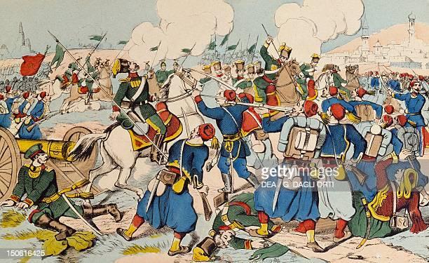 The battle of Erzerum Epinal print RussoTurkish War Turkey 19th century