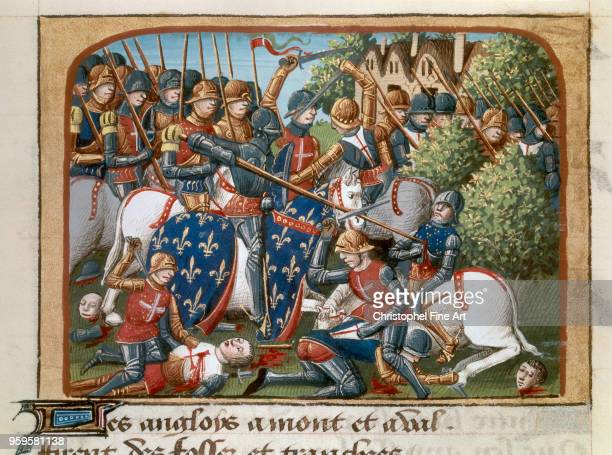 The Battle of Formigny April 14 1450 between the French army of Thomas Kyriell to that of Jean de Clermont during the Hundred Years War Martial De...