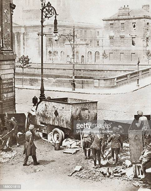 The Battle Of Four Courts Dublin Ireland During The Irish Civil War In 1922 From The Story Of 25 Eventful Years In Pictures Published 1935