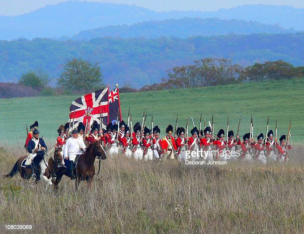 The Battle of Freeman's Farm at the 230th Anniversary Commemoration of the Battles of Saratoga.