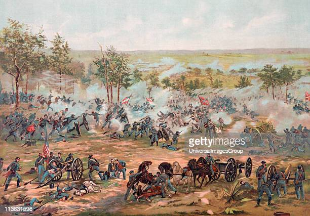 The Battle of Gettysburg July 1 to 3 1863 From a 19th century illustration