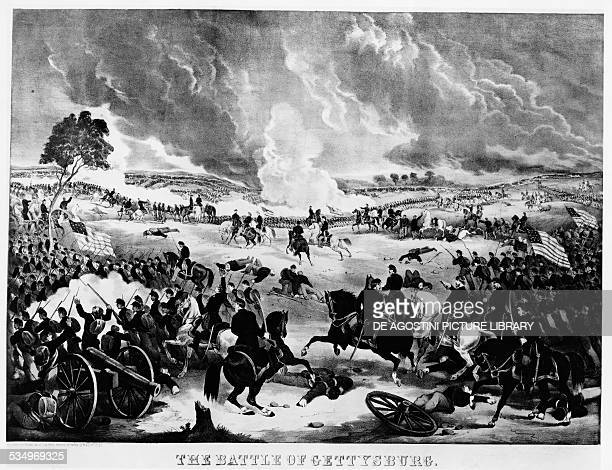 The Battle of Gettysburg, July 1-3 lithograph. United States of America, 19th century.