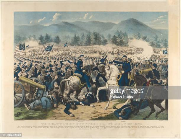 The Battle of Gettysburg, Pa., July 3rd 1863. Artist Currier and Ives.