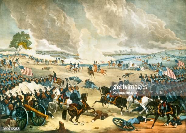 The Battle of Gettysburg pub 1863 coour lithograph The Battle of Gettysburg 1st3rd July 1863 resulted in a Union victory Robert Edward Lee 180770...