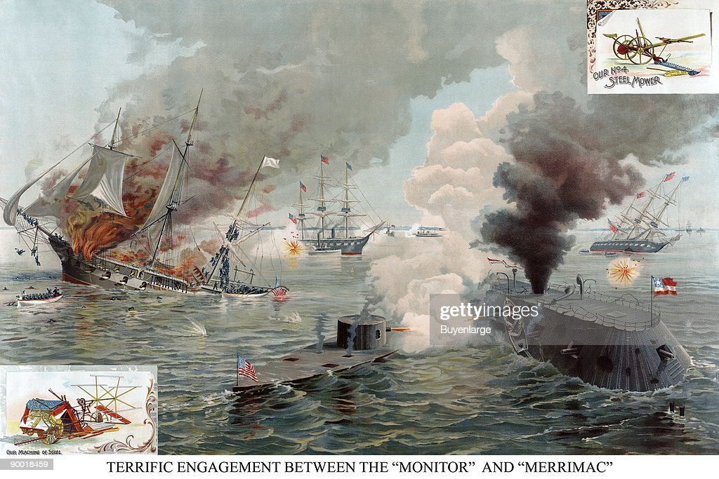 an analysis of the battle between the uss monitor and the css merrimack With the help of the css carl d, ironclad down, uss merrimack-css virginia, from tokens & medals commemorating the battle between the monitor and.