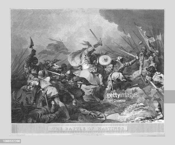The Battle of Hastings' 19th century depiction of the Battle of Hastings fought in 1066 in which the invading Normans led by William the Conqueror...