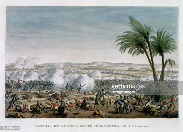 The Battle of Heliopolis 29 Ventose Year 8' The French under Jean Baptiste Kleber defeated a Mamluk army sent by the British to try to force the...