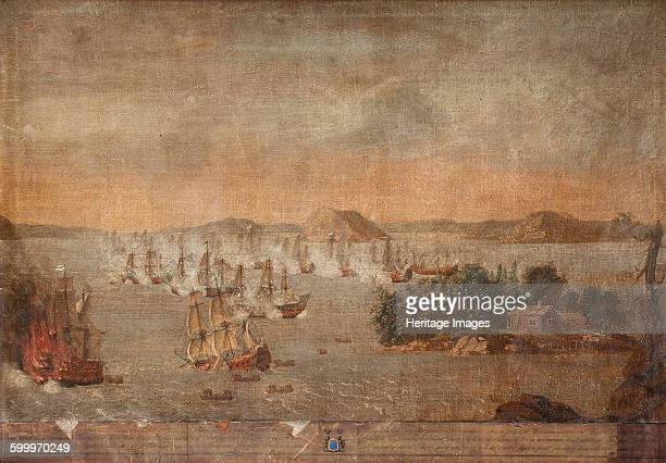 The Battle of Hoglande on 22 July 1713 1713 Private Collection Artist Anonymous