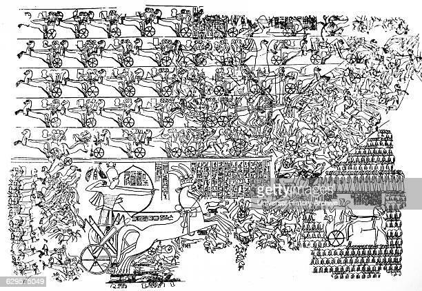 The Battle of Kadesh between the Egyptian Empire under Ramesses II and the Hittite Empire under Muwatalli II at the city of Kadesh near the modern...