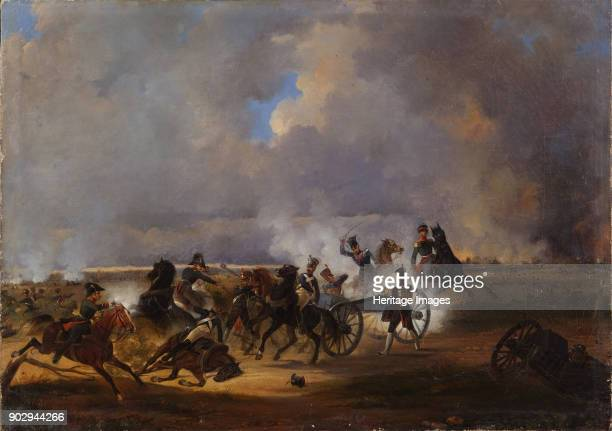 The Battle of Koenigswartha on May 19 1813 Found in the Collection of State History Museum Moscow