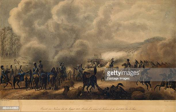 The Battle of Krasnoi on August 14 1820s. Found in the collection of the State Borodino War and History Museum, Moscow.