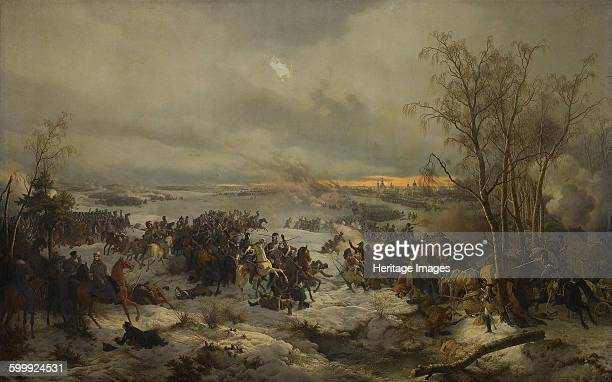 The Battle of Krasnoi on November 17 1849 Found in the collection of State Hermitage St Petersburg Artist Hess Peter von