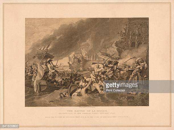 The Battle of La Hogue' 1692 The related naval battles of Barfleur and La Hogue took place between 29 May and 4 June 1692 After Benjamin West From...