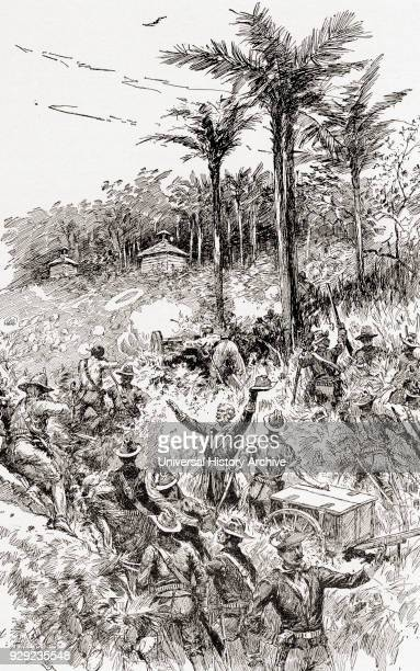 The Battle of Las Guasimas Cuba June 24 the first land engagement of the Spanish–American War From The History of Our Country published 1900
