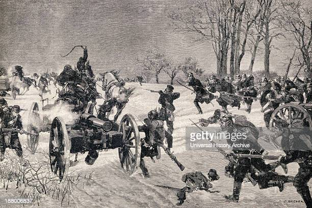 The Battle Of Le Mans 10 12 January 1871 Prussian Victory During The FrancoPrussian War From Die Gartenlaube Published 1905