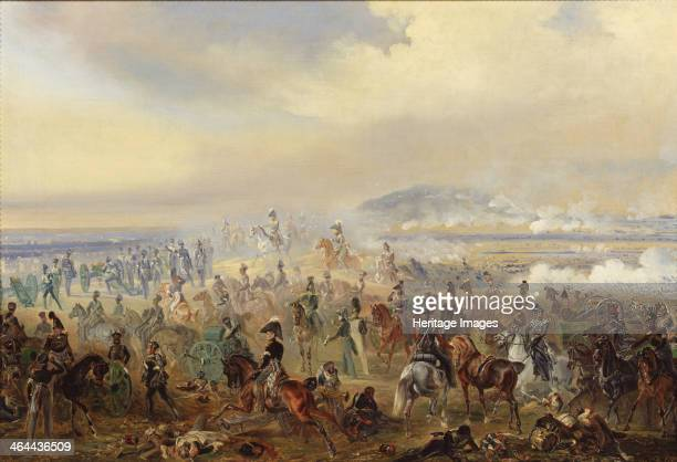 The Battle of Leipzig in October 1813 1886 Found in the collection of the State Art Museum Nizhny Tagil