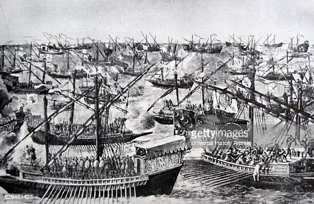 The Battle of Lepanto took place on 7 October 1571 when a fleet of the Holy League a coalition of European Catholic maritime states arranged by Pope...