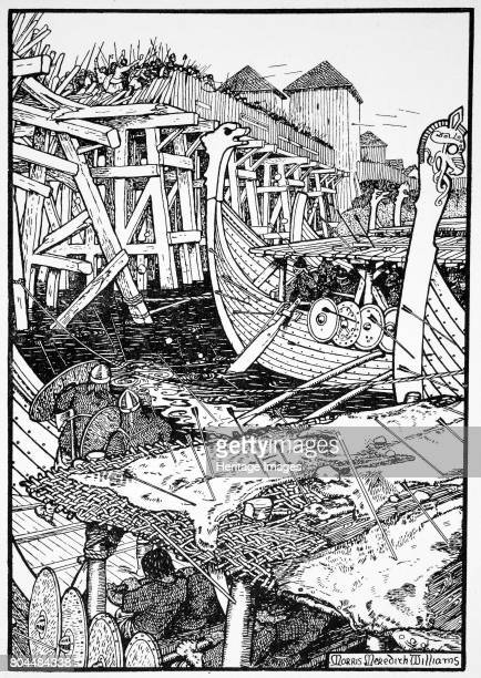 The Battle of London Bridge 1014 The Saxon bridge was pulled down in 1014 by the Norwegian prince Olaf who was aiding King Aethelred in regaining...