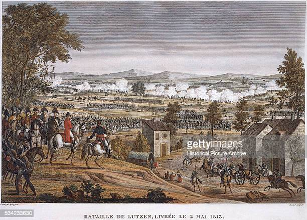 The Battle of Lutzen during Napoleon's War of Liberation May 2 1813