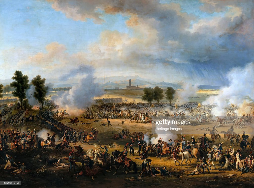 The Battle of Marengo on 14 June 1800. Artist: Lejeune, Louis-François, Baron (1775-1848) : News Photo